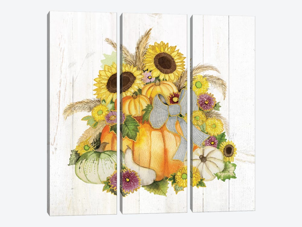 Autumn Days I 3-piece Canvas Art Print