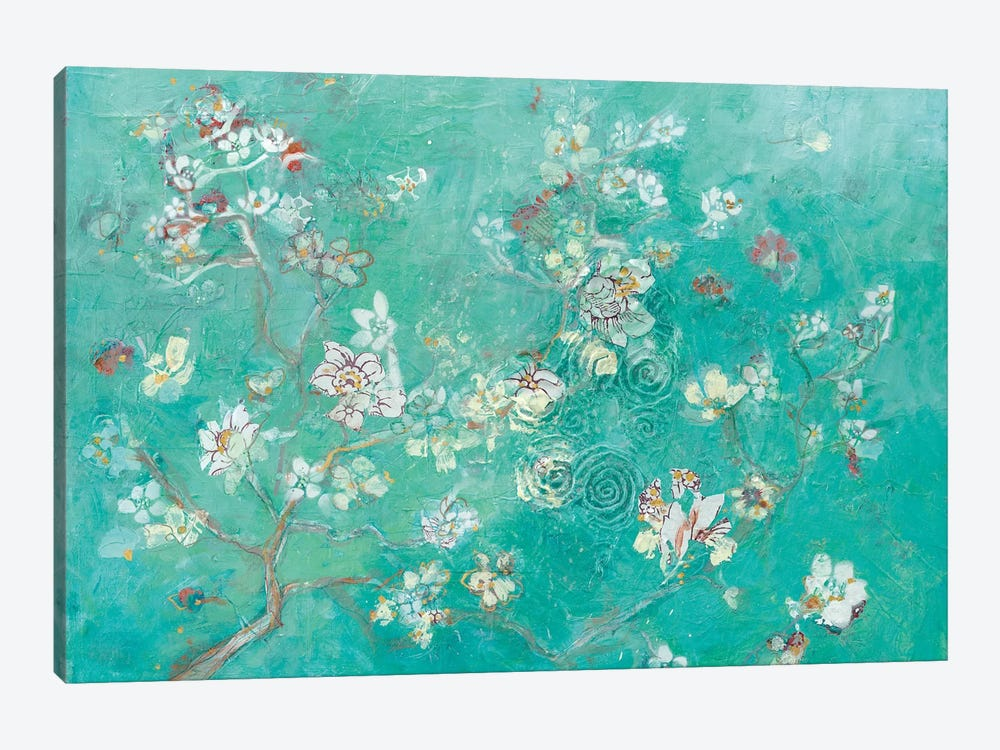 Buttery Blossom Flowers by Kellie Day 1-piece Canvas Artwork