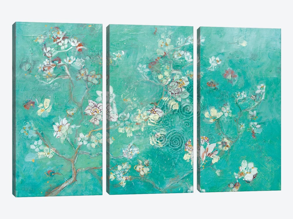 Buttery Blossom Flowers by Kellie Day 3-piece Canvas Artwork