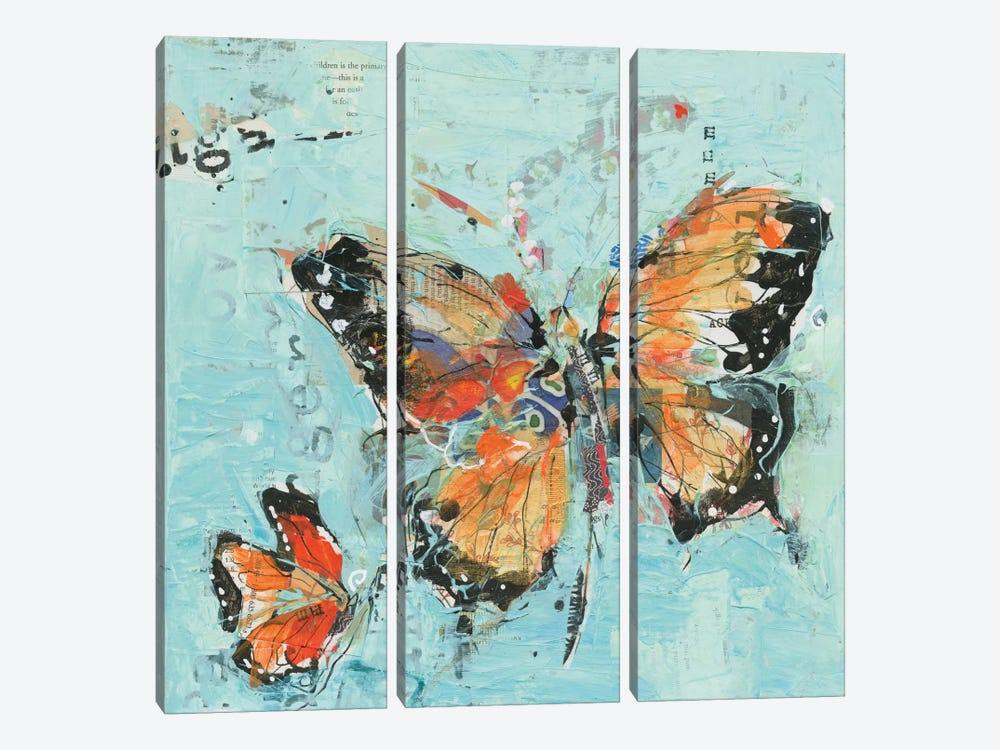Monarch II by Kellie Day 3-piece Canvas Wall Art