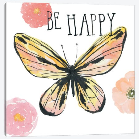 Beautiful Butterfly II 3-Piece Canvas #WAC5658} by Sara Zieve Miller Canvas Art Print