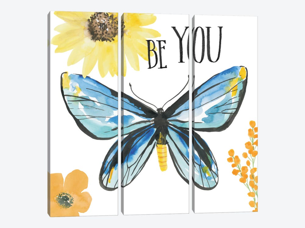 Beautiful Butterfly III 3-piece Canvas Art