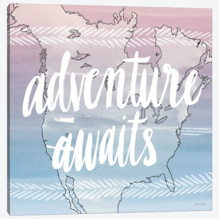 Adventure Awaits Canvas Print #WAC5661} by Sara Zieve Miller Canvas Artwork