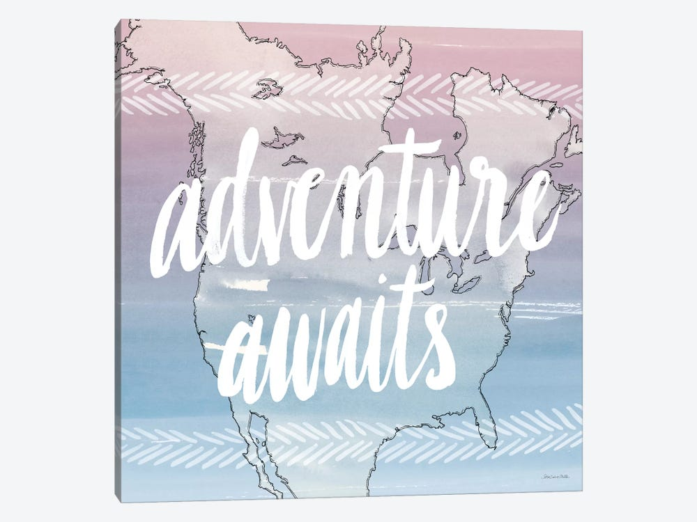 Adventure Awaits by Sara Zieve Miller 1-piece Art Print
