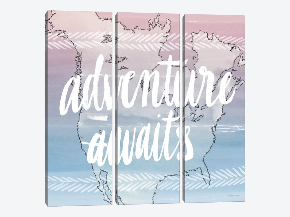 Adventure Awaits by Sara Zieve Miller 3-piece Canvas Print