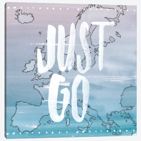 Just Go Canvas Print #WAC5663} by Sara Zieve Miller Canvas Wall Art