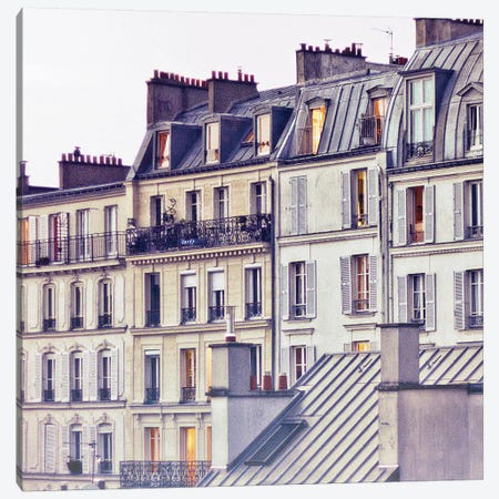 Bon Nuit Paris Canvas Print #WAC5668} by Keri Bevan Canvas Wall Art