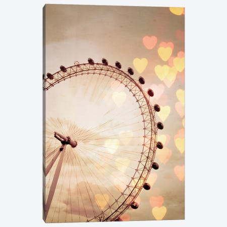 In Love With London Canvas Print #WAC5672} by Keri Bevan Art Print
