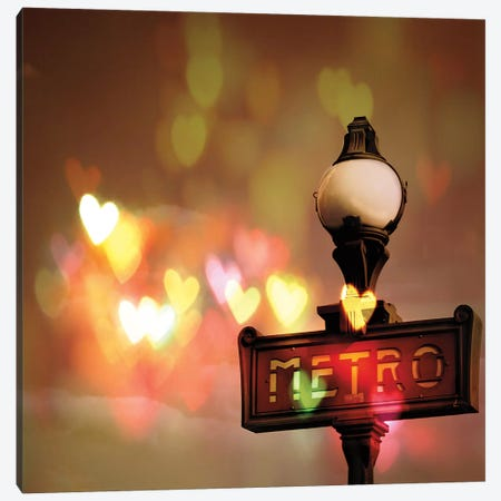 Night Life Paris Canvas Print #WAC5674} by Keri Bevan Canvas Art