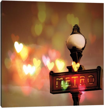 Night Life Paris Canvas Art Print