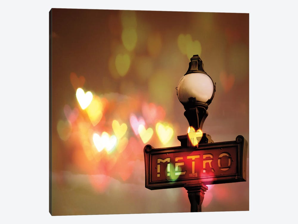 Night Life Paris by Keri Bevan 1-piece Canvas Print
