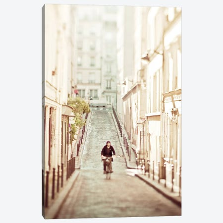 The Bicycle Thief Canvas Print #WAC5680} by Keri Bevan Canvas Artwork