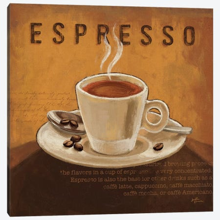 Coffee And Co. III Canvas Print #WAC5688} by Janelle Penner Canvas Artwork