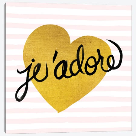 Je'adore Canvas Print #WAC5690} by Studio Bella Art Print