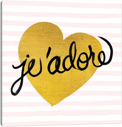 Je'adore Canvas Art Print