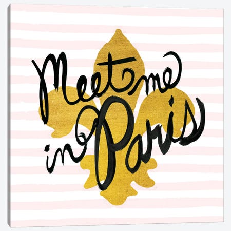 Meet Me In Paris II Canvas Print #WAC5691} by Studio Bella Art Print