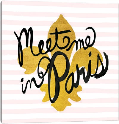 Meet Me In Paris II Canvas Art Print