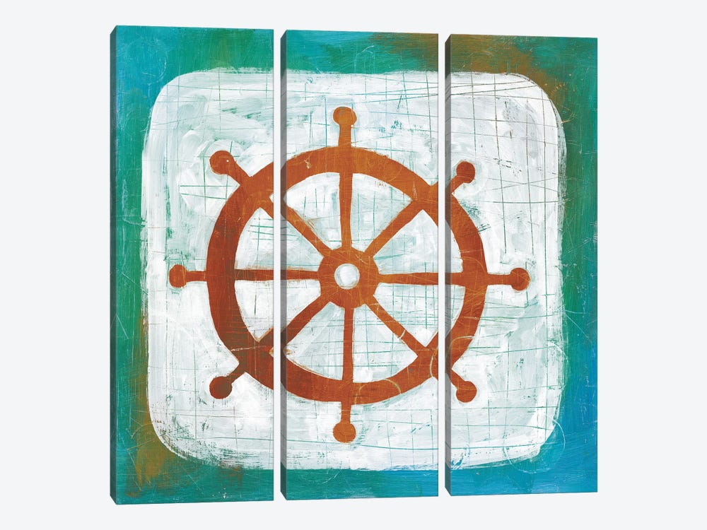 Ahoy IV by Melissa Averinos 3-piece Canvas Print