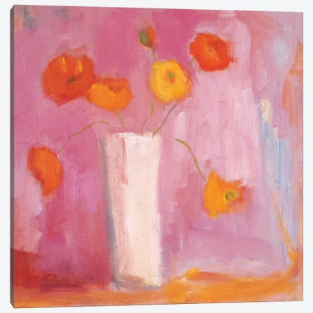 Mandarin Poppies Canvas Print #WAC5707} by Michael Clark Canvas Wall Art