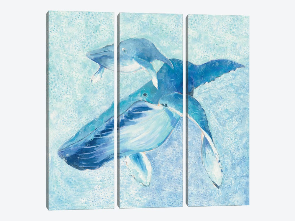 Blue Mama by Phyllis Adams 3-piece Canvas Art