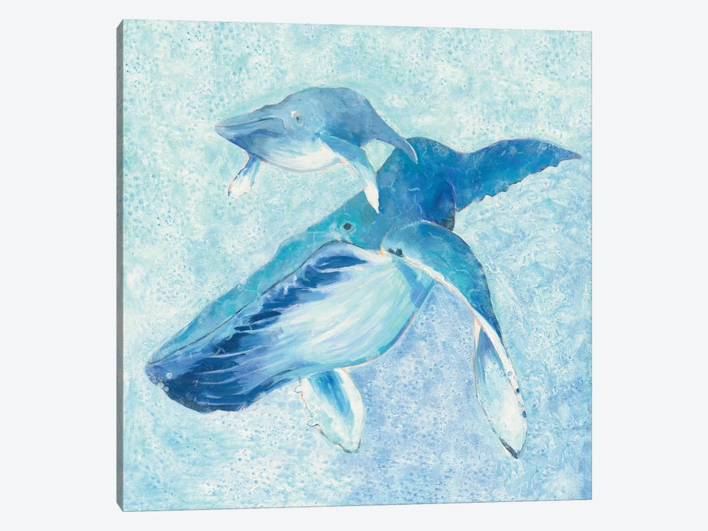 Blue Mama by Phyllis Adams 1-piece Canvas Artwork