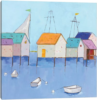 Boat House Row Canvas Art Print