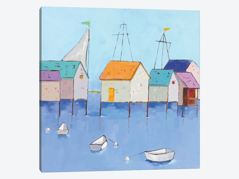Boat House Row by Phyllis Adams 1-piece Art Print