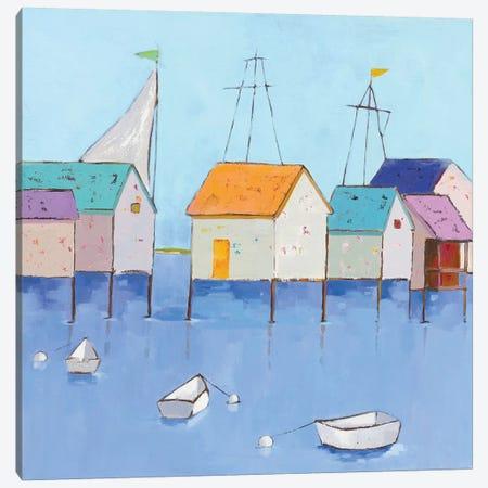 Boat House Row Canvas Print #WAC5715} by Phyllis Adams Art Print