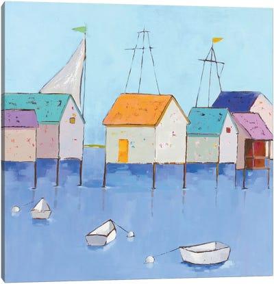 Boat House Row Canvas Art Print
