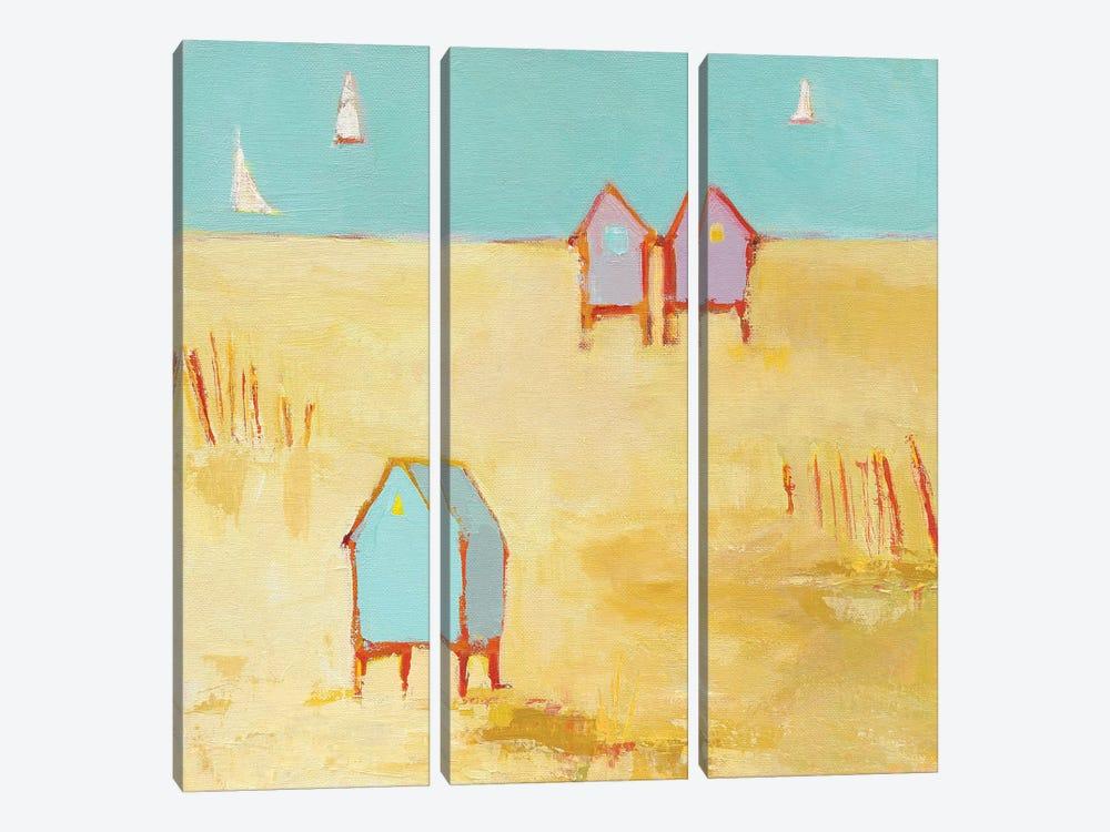 Cabanas by Phyllis Adams 3-piece Canvas Art Print