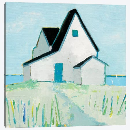 Cottage By The Sea Canvas Print #WAC5718} by Phyllis Adams Canvas Artwork