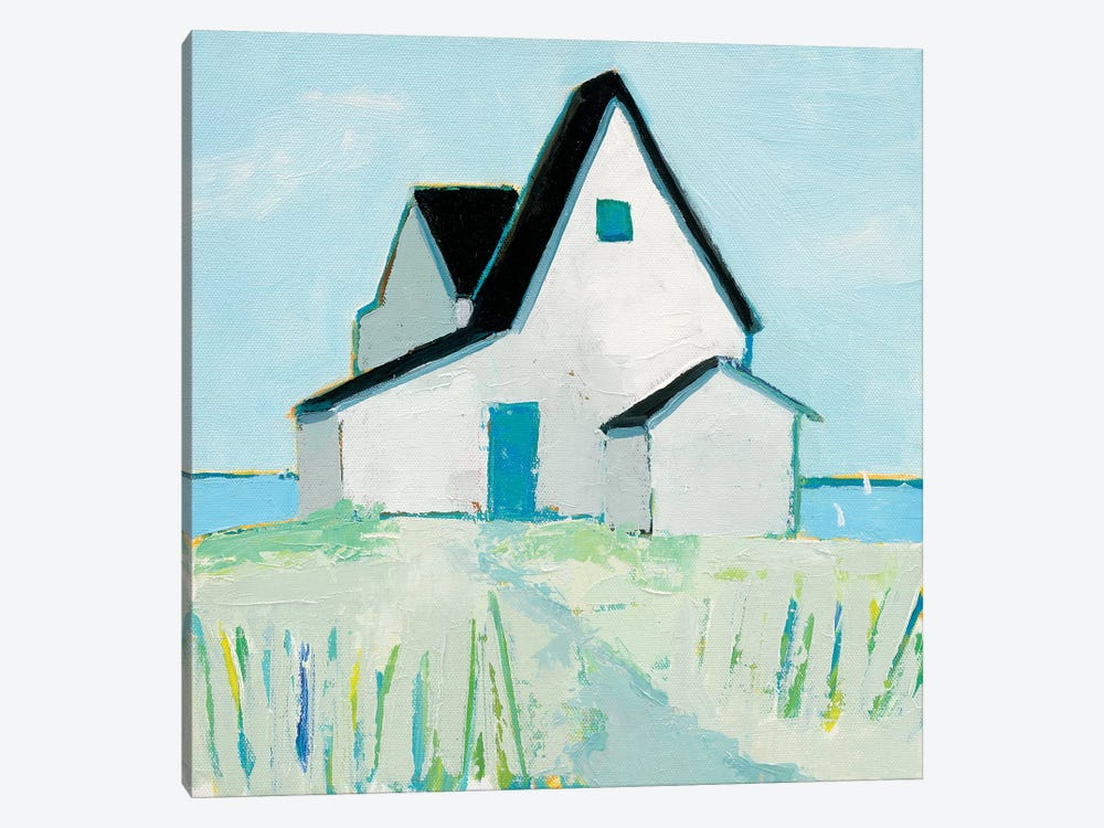 Cottage By The Sea by Phyllis Adams 1-piece Canvas Wall Art