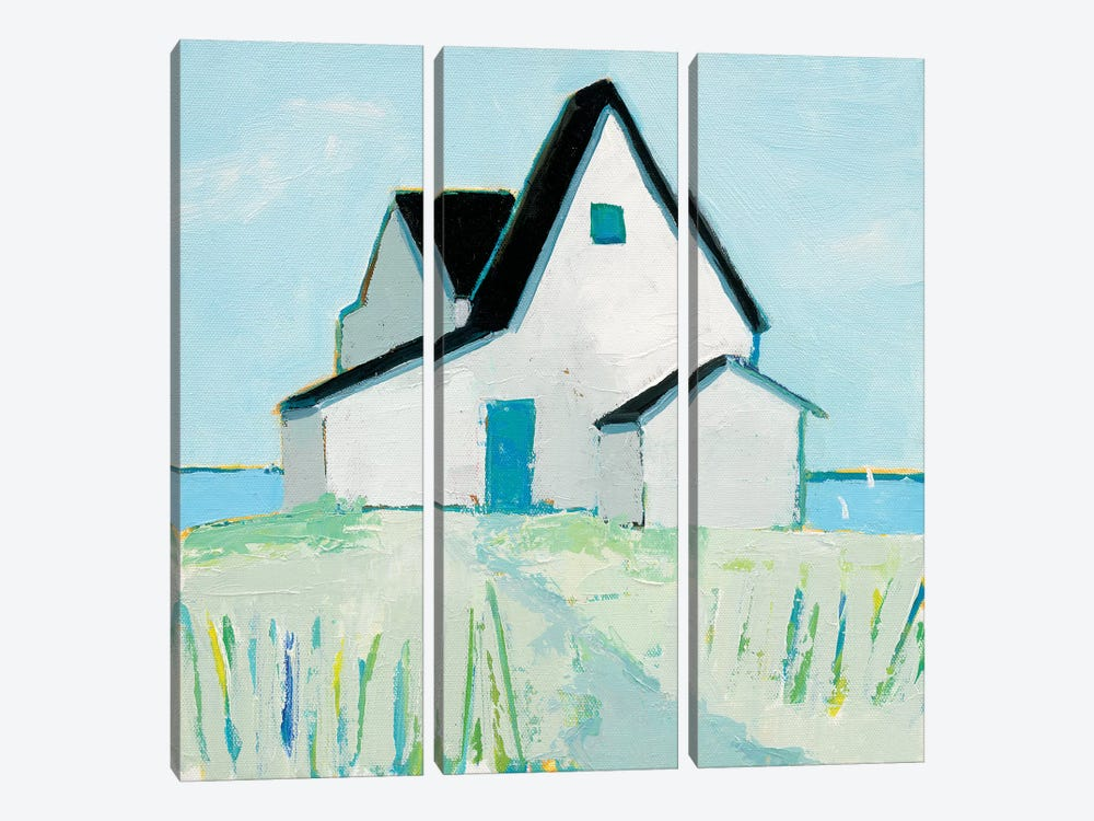 Cottage By The Sea by Phyllis Adams 3-piece Canvas Wall Art