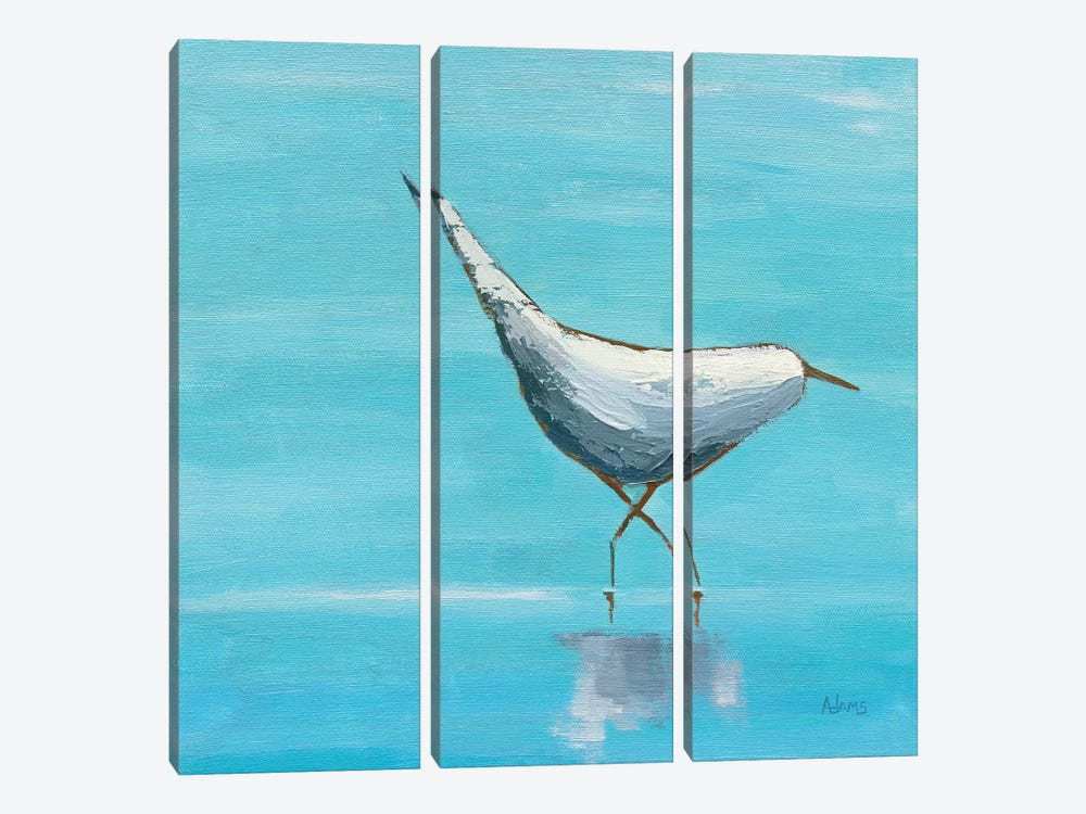 Egret I by Phyllis Adams 3-piece Canvas Print
