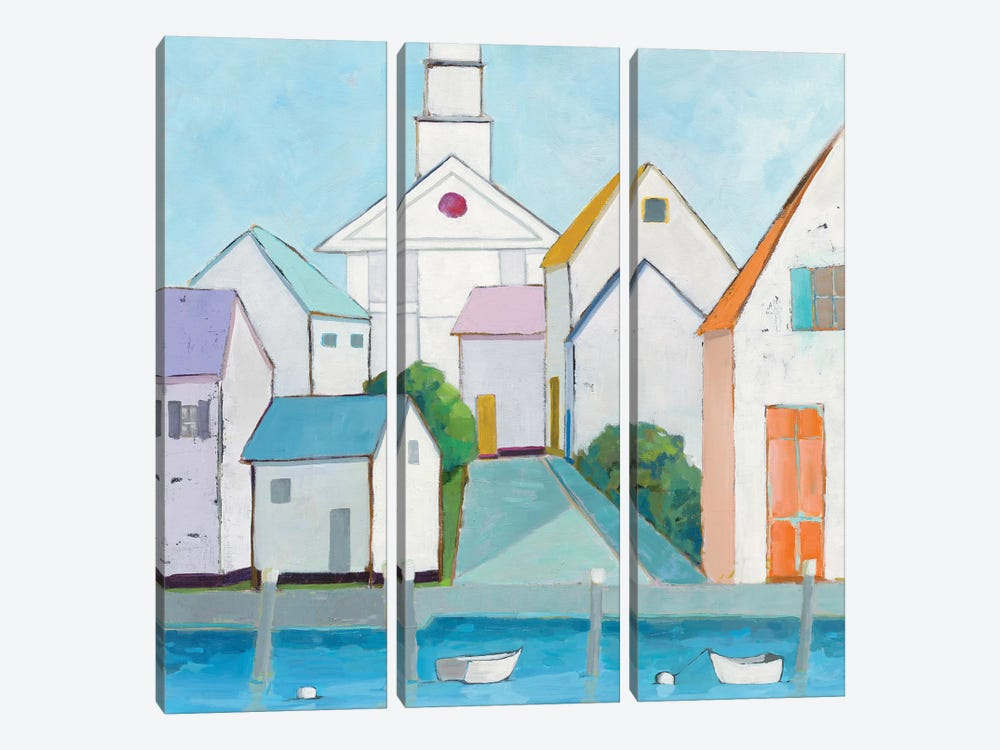 Harbor Town III by Phyllis Adams 3-piece Canvas Art Print