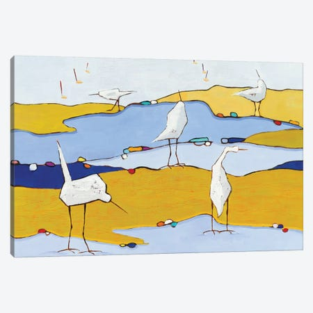 Marsh Egrets VI Canvas Print #WAC5723} by Phyllis Adams Canvas Art Print