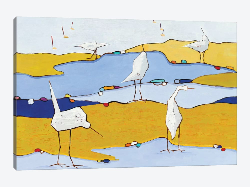 Marsh Egrets VI 1-piece Canvas Wall Art