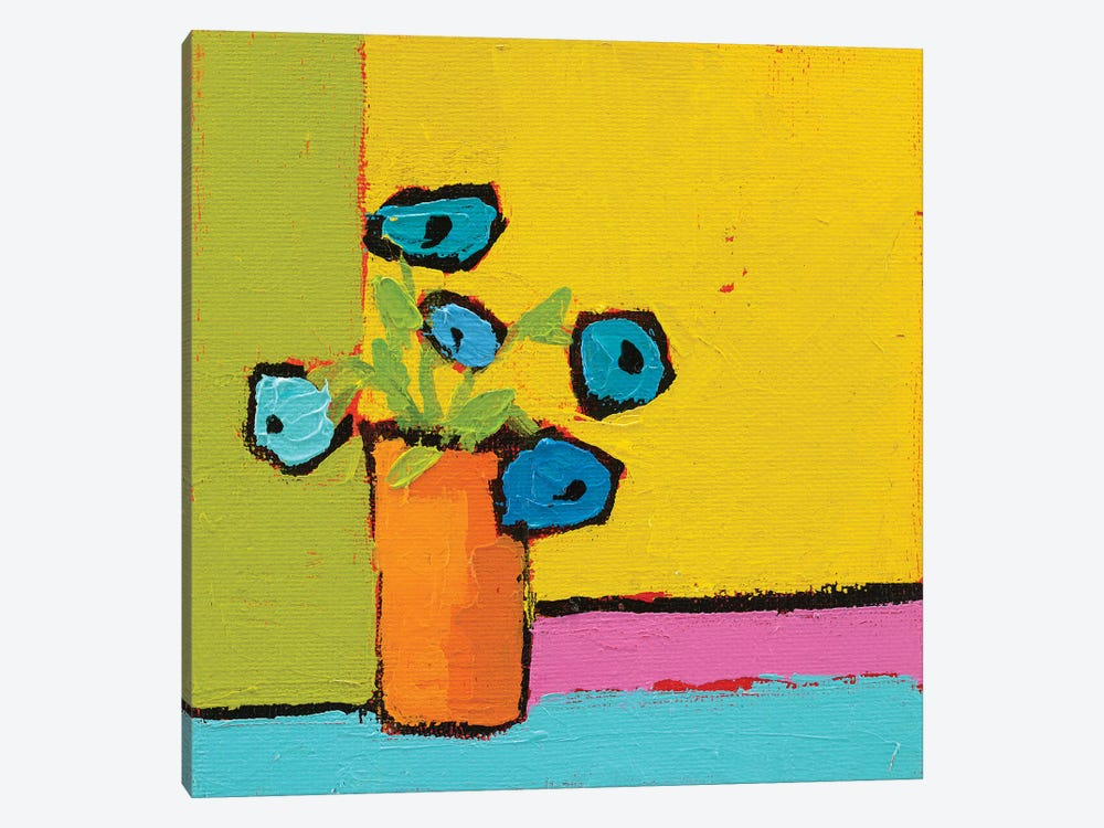 Orange Vase 1-piece Canvas Art