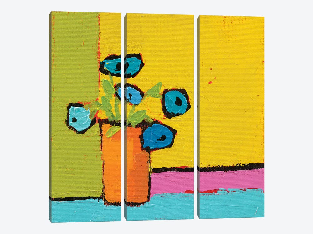 Orange Vase 3-piece Canvas Artwork