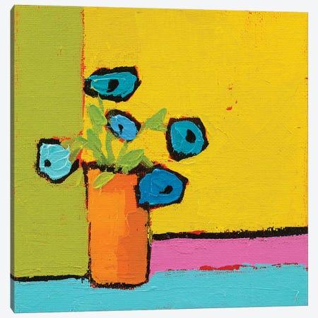 Orange Vase Canvas Print #WAC5725} by Phyllis Adams Canvas Artwork