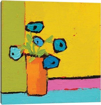 Orange Vase Canvas Art Print
