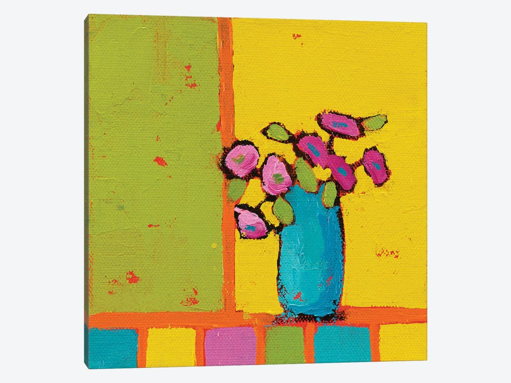 Turquoise Vase by Phyllis Adams 1-piece Canvas Wall Art