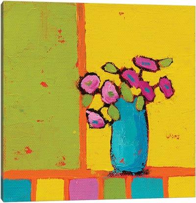 Turquoise Vase Canvas Art Print