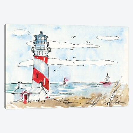 Coastal Life I 3-Piece Canvas #WAC5728} by Anne Tavoletti Canvas Art Print