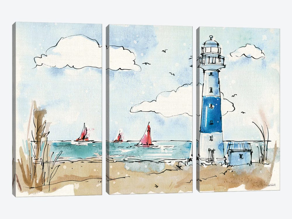 Coastal Life II 3-piece Canvas Wall Art