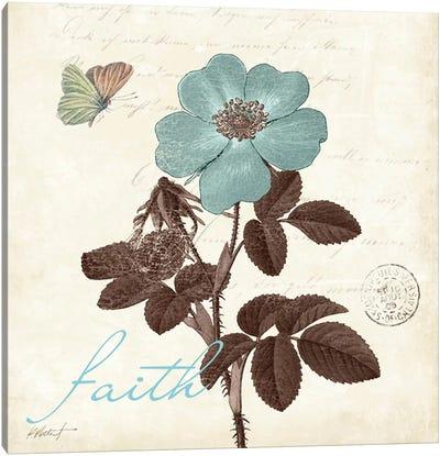 Touch of Blue II - Faith Canvas Art Print