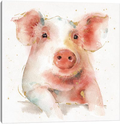 Farm Friends III Canvas Art Print