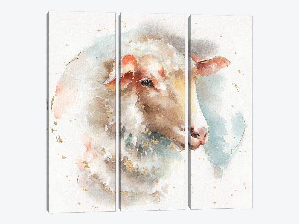 Farm Friends IV by Lisa Audit 3-piece Canvas Print