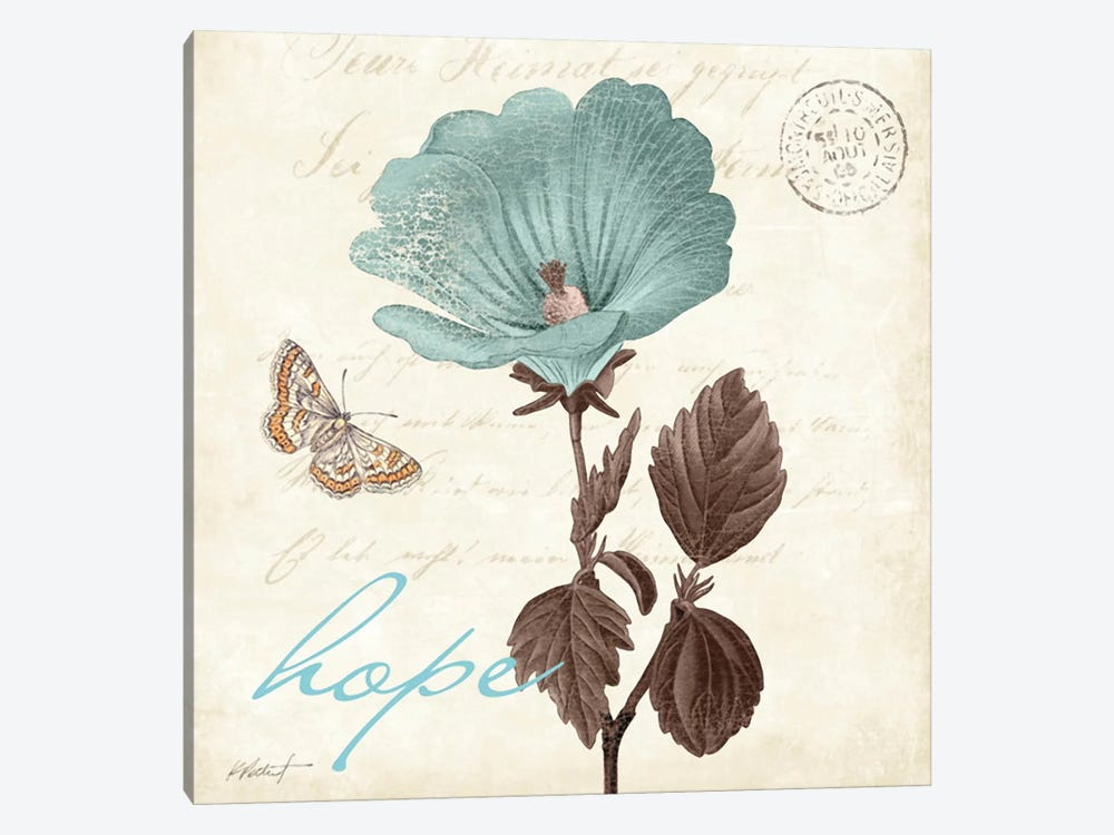 Touch of Blue III - Hope by Katie Pertiet 1-piece Canvas Art