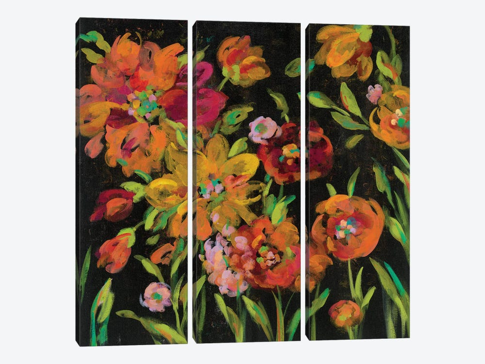 July Garden Trio III by Silvia Vassileva 3-piece Canvas Art